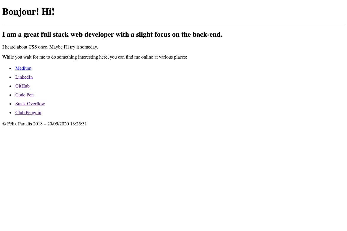 Screenshot of v1.felixparadis.com